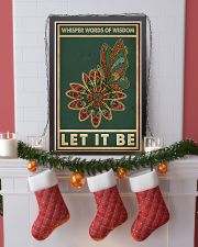 Retro Green Let It Be Butterfly  11x17 Poster lifestyle-holiday-poster-4