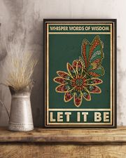 Retro Green Let It Be Butterfly  11x17 Poster lifestyle-poster-3
