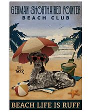 Vintage Beach Club Ruff German Shorthaired Pointer 11x17 Poster front