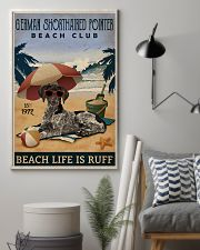 Vintage Beach Club Ruff German Shorthaired Pointer 11x17 Poster lifestyle-poster-1
