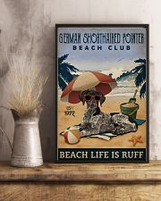 Vintage Beach Club Ruff German Shorthaired Pointer 11x17 Poster lifestyle-poster-3