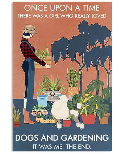 Vintage Once Upon A Time Gardening Poodle