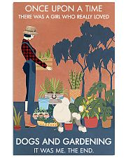 Vintage Once Upon A Time Gardening Poodle 11x17 Poster front