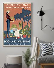 Vintage Once Upon A Time Gardening Poodle 11x17 Poster lifestyle-poster-1
