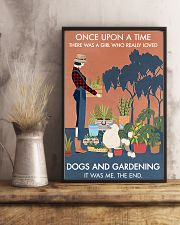 Vintage Once Upon A Time Gardening Poodle 11x17 Poster lifestyle-poster-3