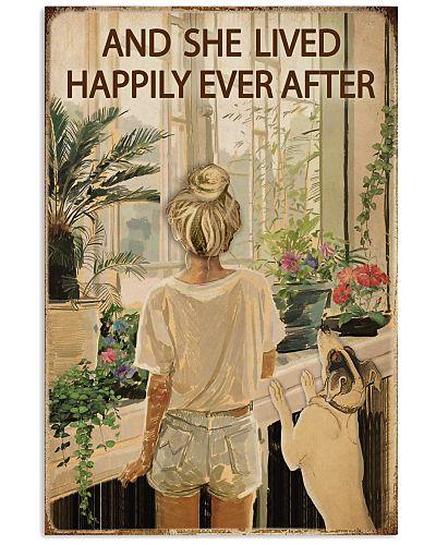 Vintage Lived Happily Garden Blond Girl