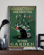 Retro Green Magical Things Garden Black Cat 11x17 Poster lifestyle-poster-2