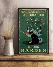 Retro Green Magical Things Garden Black Cat 11x17 Poster lifestyle-poster-3