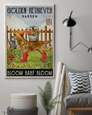 Gardening Bloom Baby Golden Retriever 11x17 Poster lifestyle-poster-1