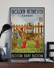 Gardening Bloom Baby Golden Retriever 11x17 Poster lifestyle-poster-2