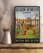 Gardening Bloom Baby Golden Retriever 11x17 Poster lifestyle-poster-3