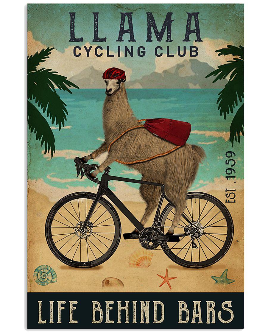 Cycling Club Llama 11x17 Poster