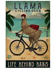 Cycling Club Llama 11x17 Poster front
