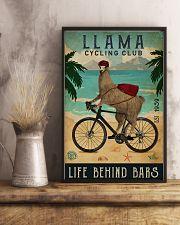 Cycling Club Llama 11x17 Poster lifestyle-poster-3