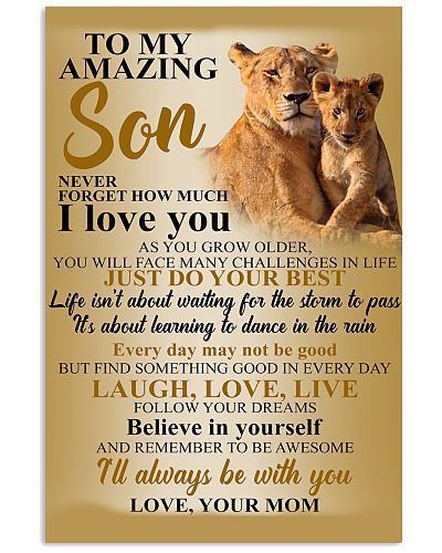 To My Amazing Son I Love You Lion