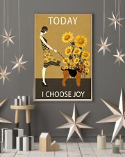 Sunflower Vintage Choose Joy Airedale Terrier 11x17 Poster lifestyle-holiday-poster-1