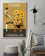 Sunflower Vintage Choose Joy Airedale Terrier 11x17 Poster lifestyle-poster-1