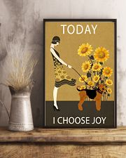 Sunflower Vintage Choose Joy Airedale Terrier 11x17 Poster lifestyle-poster-3