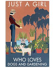 Vintage Just A Girl Loves Gardening And Dog 16x24 Poster front