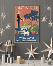 Vintage Just A Girl Loves Gardening And Dog 16x24 Poster lifestyle-holiday-poster-1