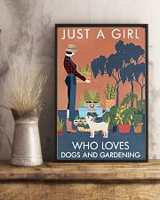 Vintage Just A Girl Loves Gardening And Dog 16x24 Poster lifestyle-poster-3