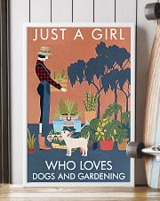 Vintage Just A Girl Loves Gardening And Dog 16x24 Poster lifestyle-poster-4