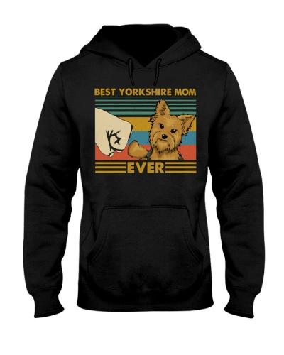 Retro Blue Best Yorkshire Terrier Mom Ever