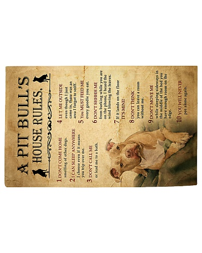 Pit Bull House Rules Rug