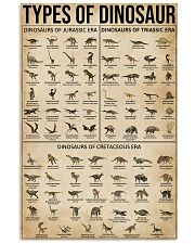 Types Of Dinosaur 16x24 Poster front