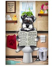 Schnauzer Reading Dog News 11x17 Poster front