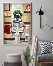 Schnauzer Reading Dog News 11x17 Poster lifestyle-poster-1