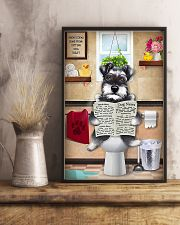 Schnauzer Reading Dog News 11x17 Poster lifestyle-poster-3