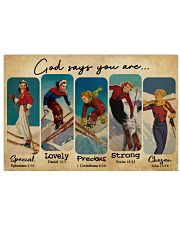 God Says You Are Skiing Girls 24x16 Poster front