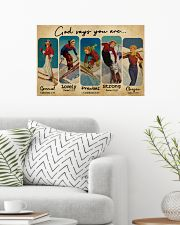 God Says You Are Skiing Girls 24x16 Poster poster-landscape-24x16-lifestyle-01