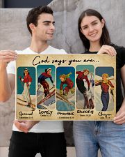 God Says You Are Skiing Girls 24x16 Poster poster-landscape-24x16-lifestyle-21