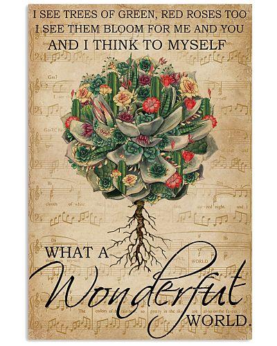 Music Sheet Wonderful World Succulent