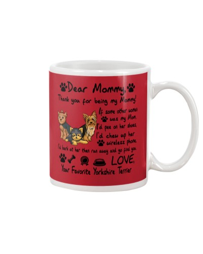 Yorkshire Terrier Thank You For Being My Mom