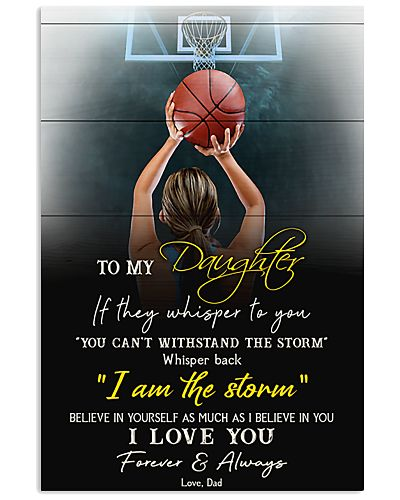 Basketball To My Daughter I Love You