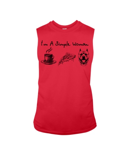 Coffee Pizza Pit Bull Simple Woman
