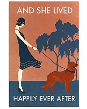 Vintage Girl Lived Happily Irish Setter 11x17 Poster front