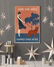 Vintage Girl Lived Happily Irish Setter 11x17 Poster lifestyle-holiday-poster-1