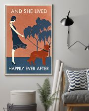 Vintage Girl Lived Happily Irish Setter 11x17 Poster lifestyle-poster-1