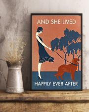 Vintage Girl Lived Happily Irish Setter 11x17 Poster lifestyle-poster-3