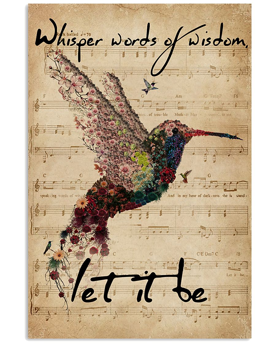 Music Sheet Let It Be Hummingbird 11x17 Poster