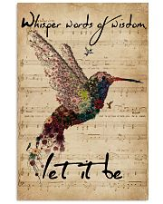 Music Sheet Let It Be Hummingbird 11x17 Poster front
