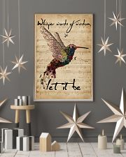 Music Sheet Let It Be Hummingbird 11x17 Poster lifestyle-holiday-poster-1