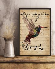 Music Sheet Let It Be Hummingbird 11x17 Poster lifestyle-poster-3