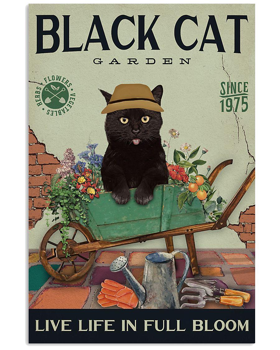 Black Cat Garden  11x17 Poster