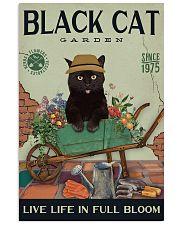 Black Cat Garden  11x17 Poster front