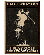 That's What I Do Golf 16x24 Poster front